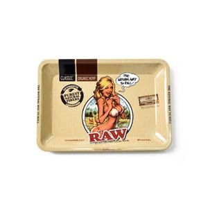 La mezcla libre del envío imagen 180 * 125 mm * Tamaño pequeño Tabacco accesorios de fumar Herramientas de metal de cigarrillos balanceo bandeja de estaño