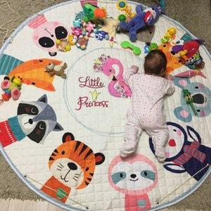 150cm Kid redonda Alfombra animal de la historieta del juego del bebé bolsa de almacenamiento Mat juguete, Nursery Alfombra antideslizante piso del bebé de habitaciones Mat Decoración Tablero de Juego