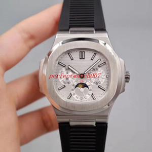 السلسلة الكلاسيكية الفاخرة عالية الجودة ووتش نوتيلوس الكلاسيكية 5712R-001 جلد فرق الشريط آسيا الميكانيكية شفافة التلقائي للرجال ساعات