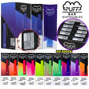 En Yeni Puff Bar Tek Bakla Sistem Cihaz Başlangıç Setleri 280mAh Pil 1.3ml Kartuşları Vape Kalem PuffBar Taşınabilir e sigaralar Vaporizers