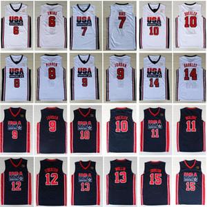 Mens 1992 Team Dream Team One 12 John Stockton Jersey 5 David Robinson 6 Patrick Ewing Jersey 14 Charles Barkley 15 Johnson 7# Larry Bird