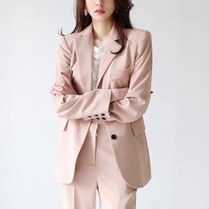 New High Quality 2019 Spring Korean Casual Fashion Slim Women's Single-breasted Professional Dress Small Suit Two-piece Suit