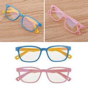 New Kid\'s Eye Glasses Anti Blue Light Filter Silicone Frame Glasses Eyewear