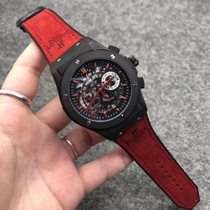 Top marca suíça 1000 Miglia Chronograph Mens Quartz Sport Watch Mans borracha Luxo inoxidável relógio de pulso Men