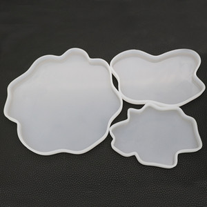 Agate Geode Coasters Силиконовые Формы Эпоксидная Смола Формы Drinkware Coaster Формы DIY Крафт Resinart 3 Размер