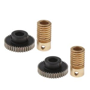 4 Pieces 0.5 Modulus Worm Wheel & Gear Shaft Hole 6mm 1:40 Reduction Gear