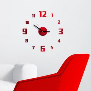 3D Frameless DIY Wall Clock DIY 3D Decorative Wall Sticker Home Decor Clock Living Room Home Decoration Mirror Wall Sticke
