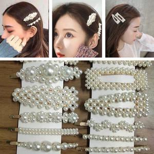 Clip INS perla delle donne forcelle sveglie principessa delle ragazze in rilievo Bowknot dei capelli dei monili lucido Hairclips signore Barrette accessori del partito dei capelli E3202
