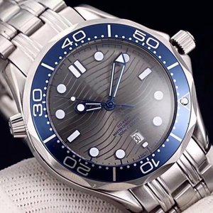 Luxo Professional 300m James Bond 007 Assista Mestre Co-Axial Movment automática Strap inoxidável do esporte dos homens Relógios de pulso