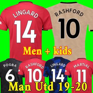 Camiseta de fútbol Tailandia FC Manchester United soccer jersey football shirt 2019 2020 POGBA LINGARD LUKAKU RASHFORD chandal de fútbol MARCIAL UtD 18 19 20 camisetas de MAN