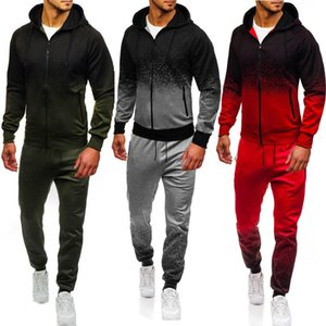 Foreign Trade Men's Sports Suit Loose Cotton Hoodie 2-piece Conquest Logo Custom Hip Hop Jogger Pants Plus Size Men Men Outfits