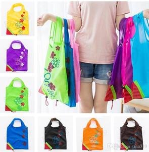Creative fraise Shopping Sac Ménage Portable fraise sacs Pliage Sac À Main Protection De L'environnement de stockage sacs T5I6025