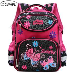 Gcwhfl الظهر للمدرسة بنات حقائب مدرسية الزهور الأطفال المدرسية لل فتاة الابتدائية mochila نوعية جيدة للأطفال حقيبة مدرسية J190522