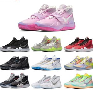 New NIKE KD 12 XII Aunt Pearl Basketball Shoes Kevin Durant XII KD12 White Ink Splashing Ink All Stars Mens Trainers Sneakers Shoes