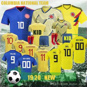 Thai Copa América Columbia Soccer Jersey 2020 Home Soccer Shirt #10 JAMES CUADRADO Rodriguez Camiseta maillot de foot CUADRADO FALC Men New
