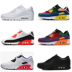 حار بيع 90 أحذية رجالية الاحذية جديد الكلاسيكية أحذية رياضية رخيصة وسادة 90 أحذية رياضية الحجم: 36-45