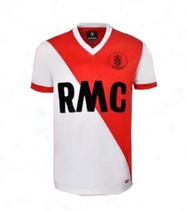 Top Retro classique 1977 1982 de football Monaco Retro Maillot de foot de S-2XL