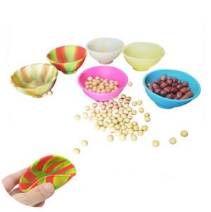 19 Cores de silicone Aperte bacia Mini Silicone bacia Wax Container Para Slick butano Oil Jar Concentrado Wax Sugar Bowl pequenos recipientes de fumar