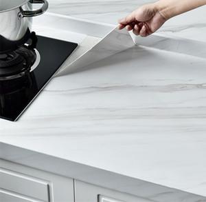 Marble Film Self Adhesive Wallpaper impermeável para banho Cozinha Armário Bancadas Contactar papel PVC adesivos de parede