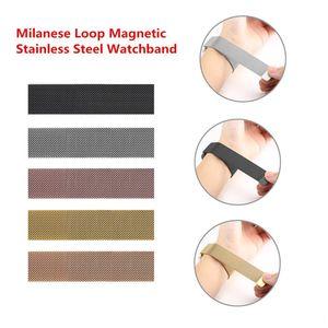 1 шт. Up Watch Band ремешок 38 мм 42 мм миланская петля магнитный ремешок из нержавеющей стали с разъемом адаптера для Apple Watch Series 1 2 3