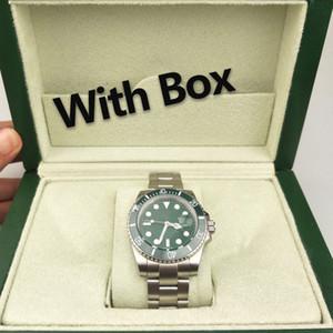 Com Box Cheap Mens Relógios 44mm Dial Calendário Impermeável Relógios de pulso de aço inoxidável Moda Automatic Men Mecânica Assista