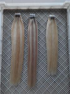 "100G 40 parça Brezilyalı Perulu Hint insan saç düz Piyano renk pu bant saç 14""-28"" bant saç Extensio"