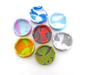 cinzeiros resistentes silicone redonda cinzeiro calor colorido Caso amigável luminoso ECO 10 cores escolher OD para facilitar a limpeza Moda DHB647