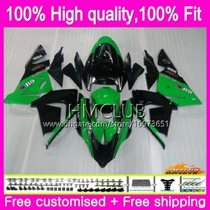 100%Fit Injection For KAWASAKI ZX1000 C ZX 10 R ZX-10R 04 05 Body Sale Green 62HM.9 ZX10R 04 05 ZX1000C ZX 10R 2004 2005 OEM Fairing Kit