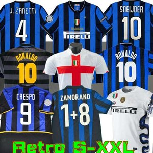 finales 2009 2010 MILITO SNEIJDER ZANETTI Retro Maillot de football Pizarro Football MILAN 1997 1998 97 98 99 RONALDO Inter Djorkaeff Baggio 02 03