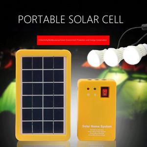Bewegliches geführtes Licht 3W Lithium Solar-Klein System 3 Glühlampe Highlight Energiesparleuchte Solar-Beleuchtung