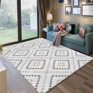Fashion Geometric Carpets for Livingroom Bedroom Area Rug Anti-Slip Rectangular Mat Rugs Home Decor Carpet Baths Toilet Doormats