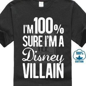 2017 Yeni Kişilik Performansı T Gömlek I'm 100% Eminim ben Bir Villain Kısa Kollu Logo Baskı T-shirt