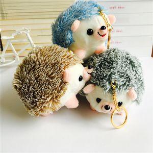 13CM Plush Hedgehog Toys KeyChain Ring Pendant Plush Toy Animal Stuffed Anime Car Fur Gifts for Women Girl Toys Doll key chains