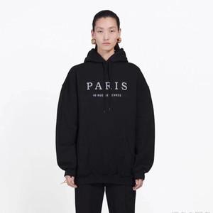 Mens famoso de París bordado sudaderas con capucha para hombre de la moda del estilista sudaderas con capucha de la chaqueta de los hombres de las mujeres de la alta calidad camisetas ocasionales tamaño M-2XL