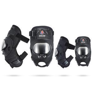 4 unids / lote transpirable motocicleta codo rodilla manga almohadilla brazo corto pierna protector protector protector MTB ciclismo ropa deportiva