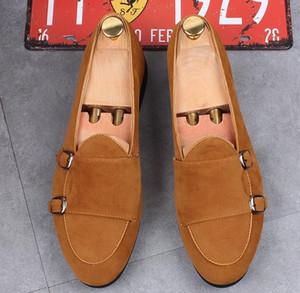 Hot Sale-Fashion Men Loafers Herren England Velvet Slippers British Dress Shoes Herren Wohnungen Hochzeit und Party Schuhe