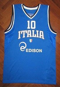 #10 Marco Belinelli enel edison ITALY EUROBASKET Basketball Jersey all size Embroidery Stitched Customize any name and name XS-6XL vest Jers