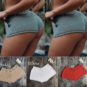 Kadınlar Crochet Şort Yaz Plaj Yüzme Surf Board Günlük Mini Pantolon Seksi Külot Kadınlar Yaz Plaj Wear İçin
