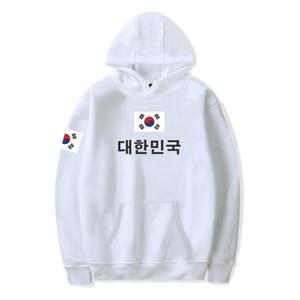 2019 Bandeira Nacional de Moda de Nova sul-coreano Pringitng moleton 4XL Plus Size República Hoodies Da Roupa da bandeira da Coreia T200103