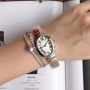 Moda mulheres ouro prata relógio de luxo designer quartzo relógios de aço inoxidável vestido de pulso senhoras pulseira pulseira relógio reloj de lujo menina