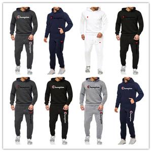 Mens Designer Survêtements hoodies marque Champion Pull À Capuche Sweasuit + pantalon de sport deux pièces tenues Automne Hiver Vêtements B82303