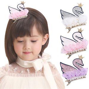 10pcs lot Hot Sale Hair Accessories Crown Swan Pearl Fascinator Headband Children Hairpin Festival Party Gift Headwear