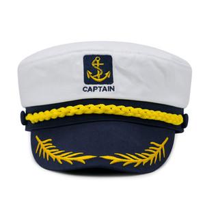 Unisexe Marine Cap coton Chapeaux militaires Mode Cosplay Sea Captain Chapeaux Casquettes armée pour Femmes Hommes Garçons Filles Sailor Chapeaux gros