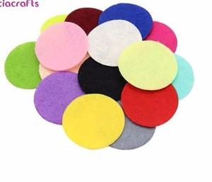 Rodada de tecido de feltro almofadas acessórios remendo círculo feltro, acessórios de flores de tecido D14010403