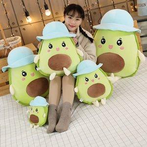 Peluche Avocado Giocattoli con il cappello farciti di frutta cibo Plush Toys Kawaii Avocado cuscino morbido sveglio bambola per i bambini comodo cuscino