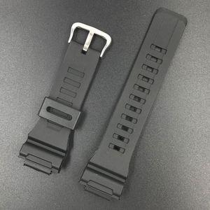 Rubber Strap For Casio AE-1000w AQ-S810W SGW-400H AEQ-110W W-735H Silicone Watchband Pin Buckle Strap Watch Wrist Bracelet Black
