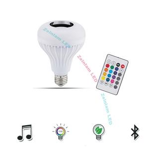 RGB изменение цвета Bluetooth лампочка Speaker Smart LED Music Лампа с с обновленным пультом дистанционного управления