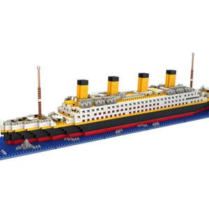 1860 Adet Gemi Modeli Tekne DIY Yapı Elmas Mini birleştirin Blokları Takımı Çocuk Çocuk Oyuncakları Doğum Hediye ile Lepining Y200428