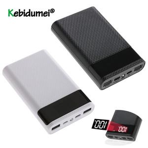 Consumer Electronics Últimas Dual USB Display Type C Power Bank Caso DIY 4x18650 Mobile Phone 15000mAh Caixa de armazenamento da bateria Com LED inteligente