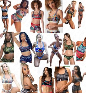 Kadınlar Tasarımcı Harf baskı Mayolu Tank Yelek Üst Push Up Sütyen + Şort Swim Sandıklar 2 adet Bikini Seti Tankinis Mayo D61808
